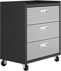 Manhattan Comfort Fortress Collection Convenient Durable Mobile Garage Chest