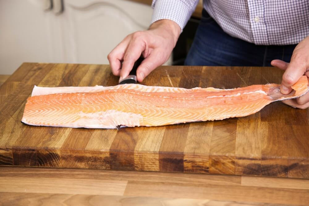 how to clean walleye remove the skin
